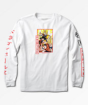 Primitive x Dragon Ball Z Super Saiyan Goku camiseta blanca de manga larga