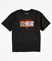 Primitive x Dragon Ball Z Villains camiseta negra para niños