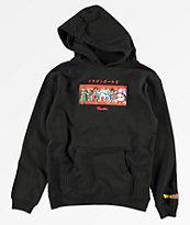 Primitive x Dragon Ball Z Villains sudadera con capucha negra para niños