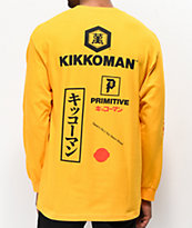 Primitive x Kikkoman Season camiseta dorada de manga larga