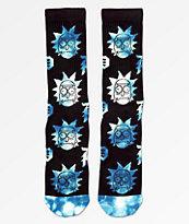 Primitive x Rick and Morty Dirty P Black & Blue Crew Socks