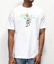 Primitive x Rick and Morty Nuevo Skate White T-Shirt