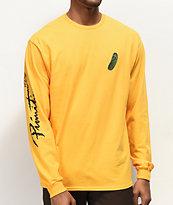 Primitive x Rick and Morty Pickle Rick camiseta amarilla de manga larga
