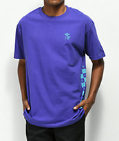 Quiet Life Checker camiseta morada