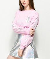 RIPNDIP Cats Pink Long Sleeve T-Shirt