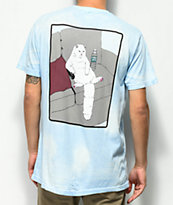 RIPNDIP Couch Potato Blue Tie Dye T-Shirt