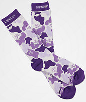 RIPNDIP Invisible Purple & White Crew Socks