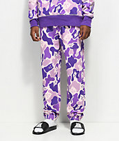 RIPNDIP Invisible Purple Camo Sweatpants