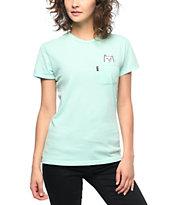 RIPNDIP Lord Nermal camiseta con bolsillo en color menta