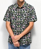 RIPNDIP Nermal Flower Black Button Up Shirt