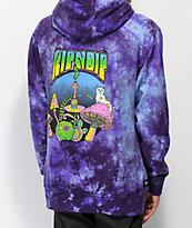 RIPNDIP Psychedelic Nerm Purple Tie Dye Hoodie