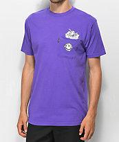 RIPNDIP Stuffed Purple Pocket T-Shirt