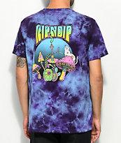 RIPNDIP camiseta psicodélica con efecto tie dye morada y bolsillo