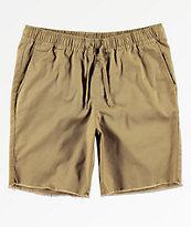 RVCA Weekend shorts chinos de caqui