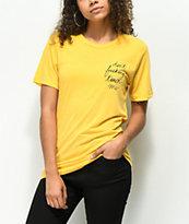 Rebel Soul Don't Fucking Touch Me Yellow T-Shirt