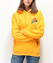 Rebel Soul Fuck It Rose sudadera con capucha amarilla