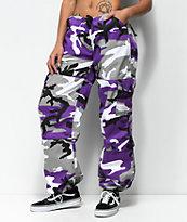 Rothco Ultra Violet Vintage Fatigue pantalones de camuflaje violeta