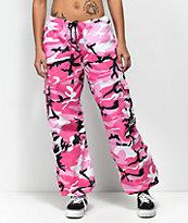 Rothco Vintage Fatigue pantalones de camuflaje en rosa fuerte