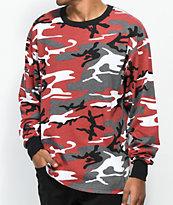 Rothco camiseta de manga larga de camuflaje rojo