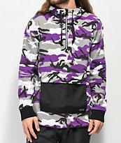 Rothco x Vitriol Y2K chaqueta polar de camuflaje morado