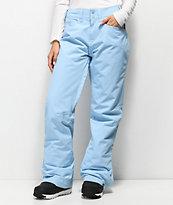 Roxy Backyard Powder Blue 10K Snowboard Pants