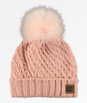 Roxy Blizzard gorro rosa con pompón
