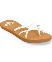 Roxy Oneeda White Braided Sandals