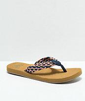 Roxy Porto sandalias en azul marino