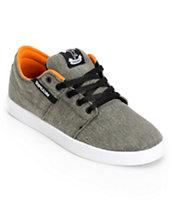 SUPRA Stacks Grey Pavement Canvas Shoe