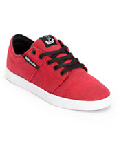 SUPRA Stacks Red Pavement Canvas Shoe