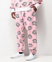 Salem7 Fangs Allover Pink Sweatpants
