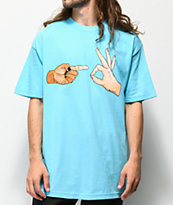 Salem7 Hand Signs camiseta azul