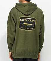 Salty Crew Stealth Army Green Heather Hoodie