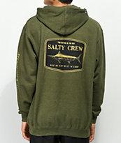 Salty Crew Stealth sudadera con capucha verde militar