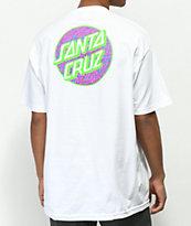 Santa Cruz Beach Dot White T-Shirt