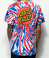 Santa Cruz Classic Dot Union Jack Tie Dye T-Shirt