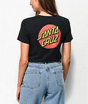 Santa Cruz Classic Dot camiseta negra