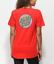 Santa Cruz Coiled Dot Red T-Shirt