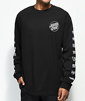 Santa Cruz Multi Cruz Black Long Sleeve T-Shirt