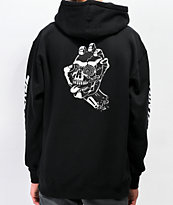 Santa Cruz Screaming Skull sudadera con capucha negra