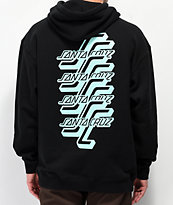 Santa Cruz Stacked Black Hoodie