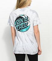 Santa Cruz Wave Dot Spider Silver Tie Dye T-Shirt