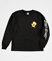 Santa Cruz x SpongeBob SquarePants Boys Hand Black Long Sleeve T-Shirt