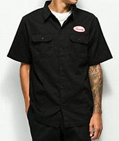 Scum Black Twill Button Up Work Shirt