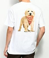 Skate Mental Pizza Dog White T-Shirt