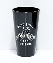 Sketchy Tank Good Times 2 Pack Black Pint Glasses