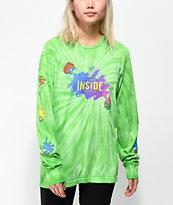 Slushcult x Gushers Tie Dye Lime Long Sleeve T-Shirt