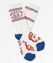 Spitfire Classic Bighead calcetines blancos y azules para niños