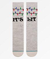 Stance Its Snow Lit Crew Socks