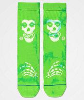 Stance Misfits Boys Green Crew Socks